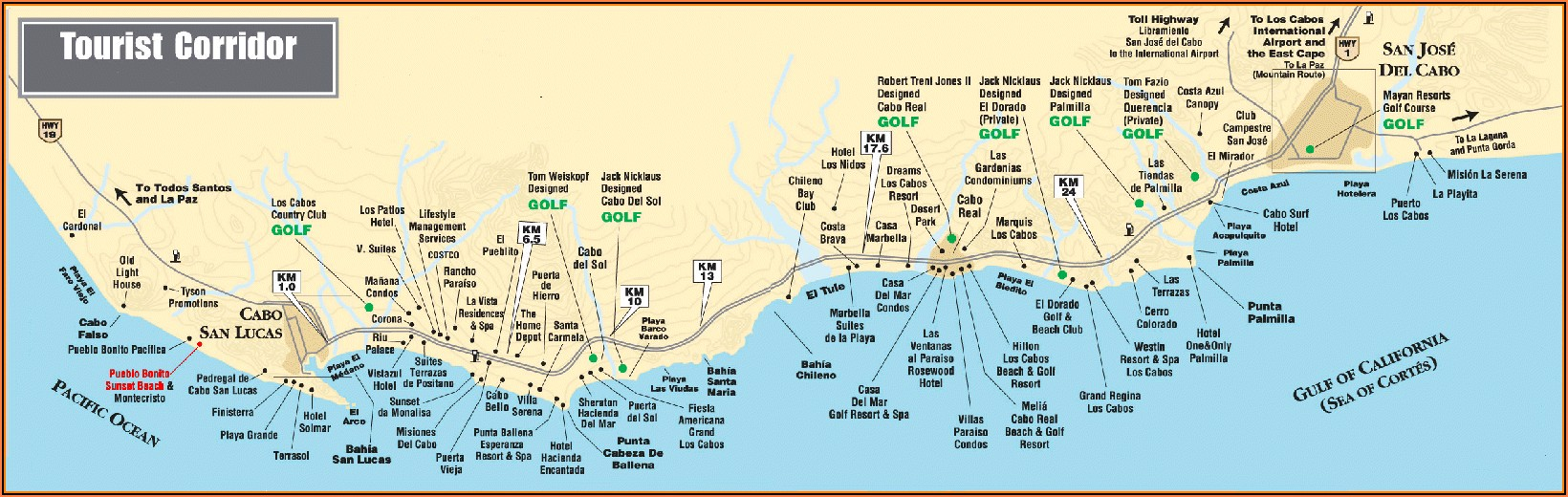 Los Cabos Hotels Map