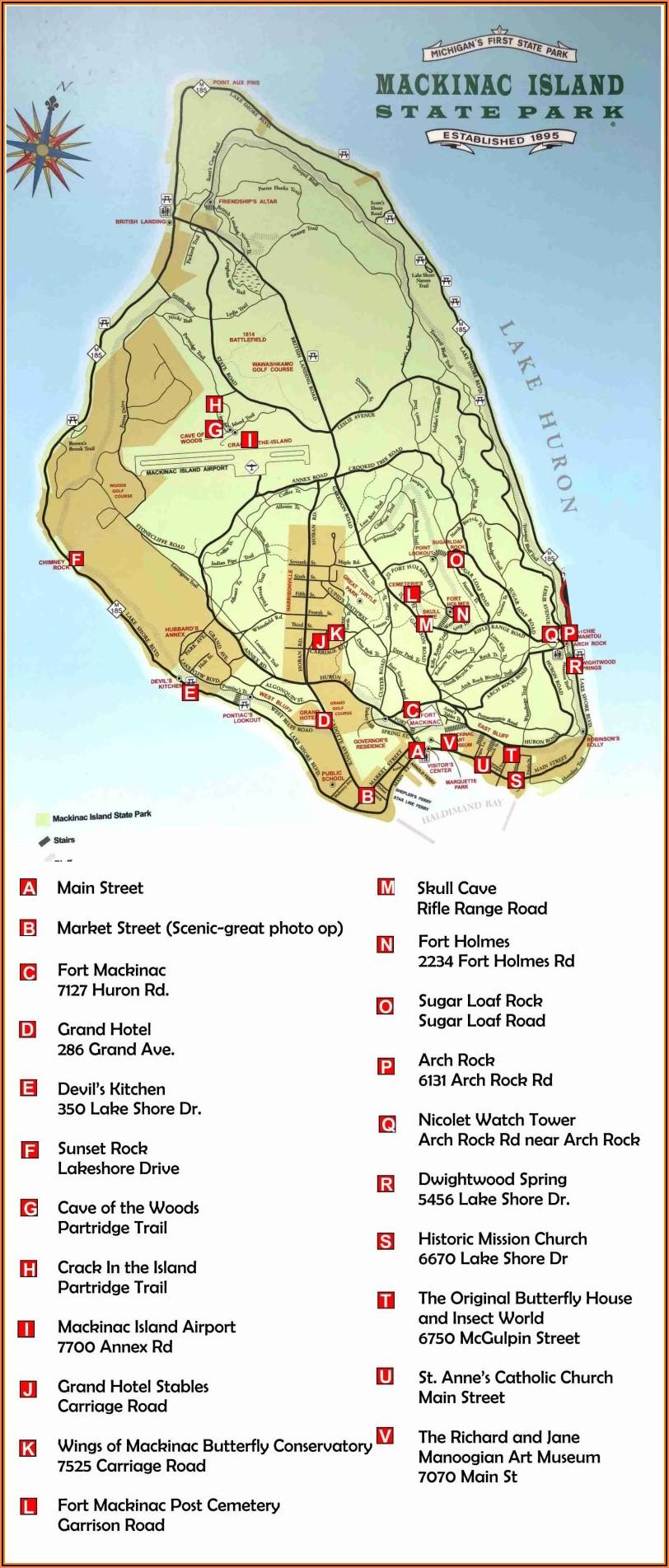 Mackinac Island Detailed Map