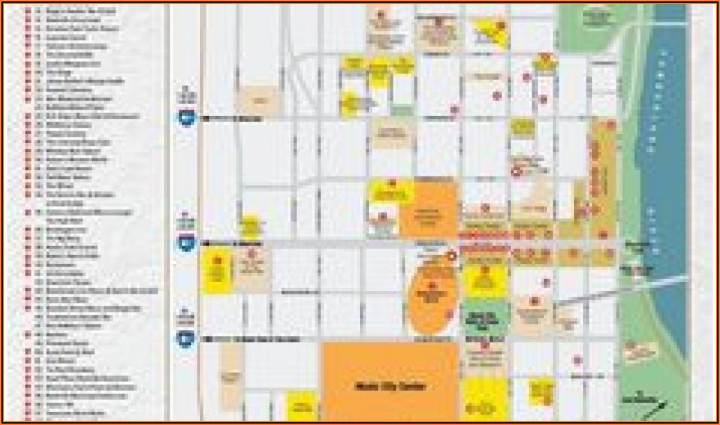 Map Downtown Nashville Hotels