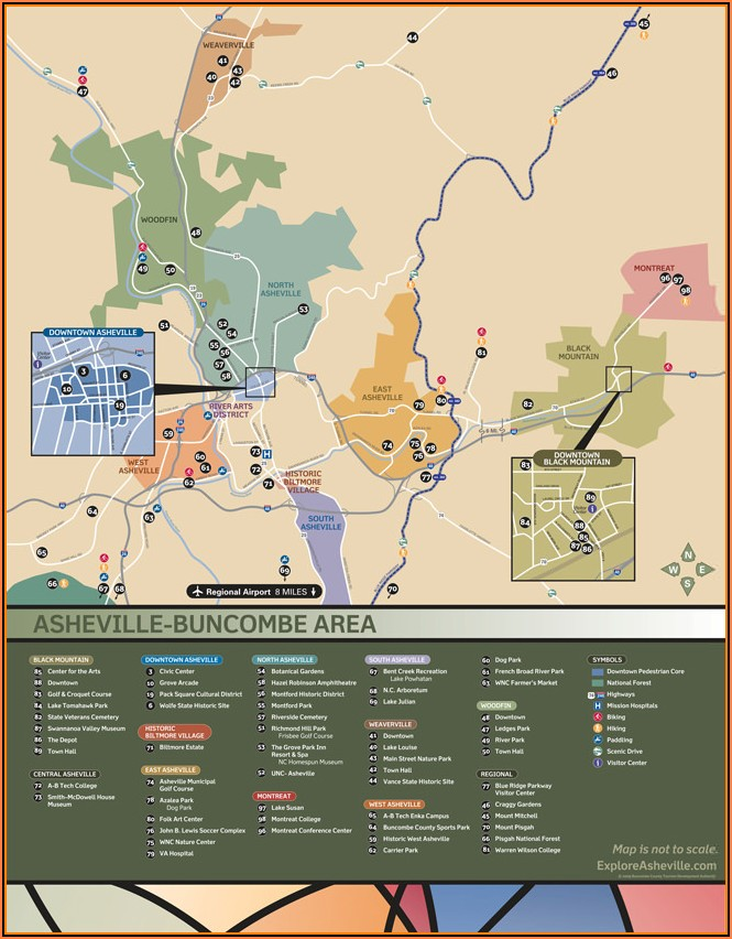 Map Of Asheville Nc Hotels