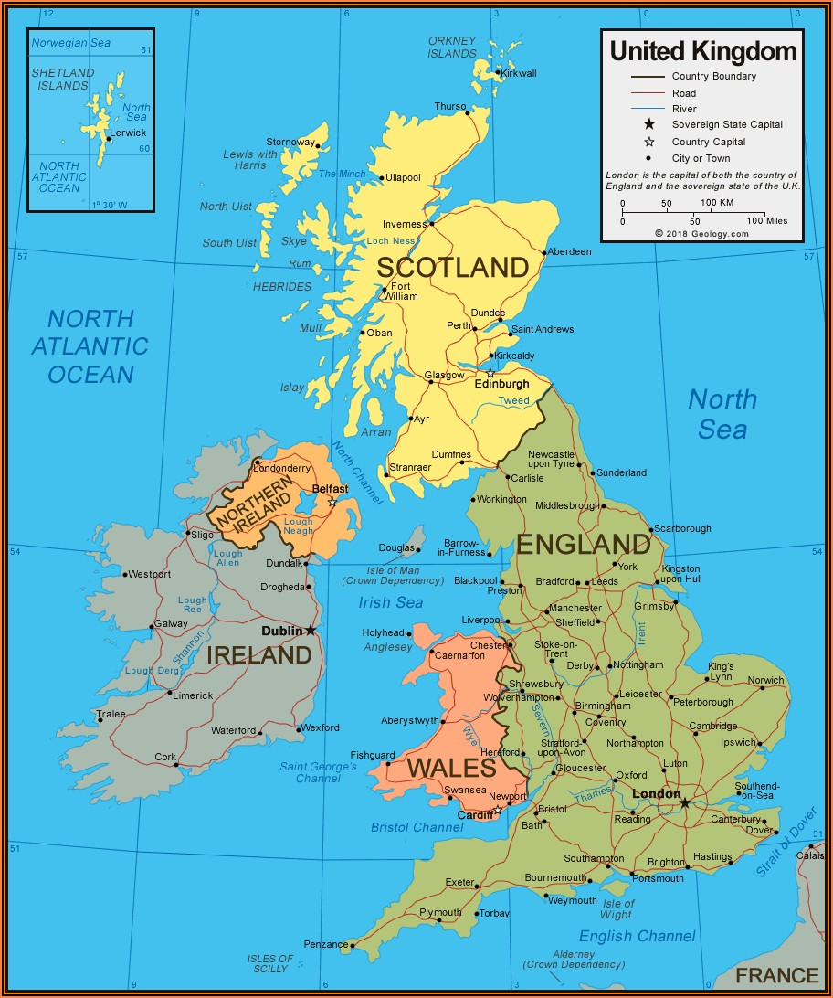 Map Of British Isles With Capital Cities