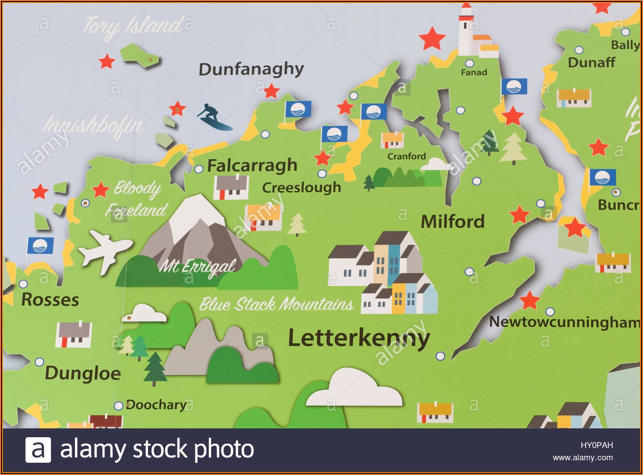 Map Of Donegal Ireland
