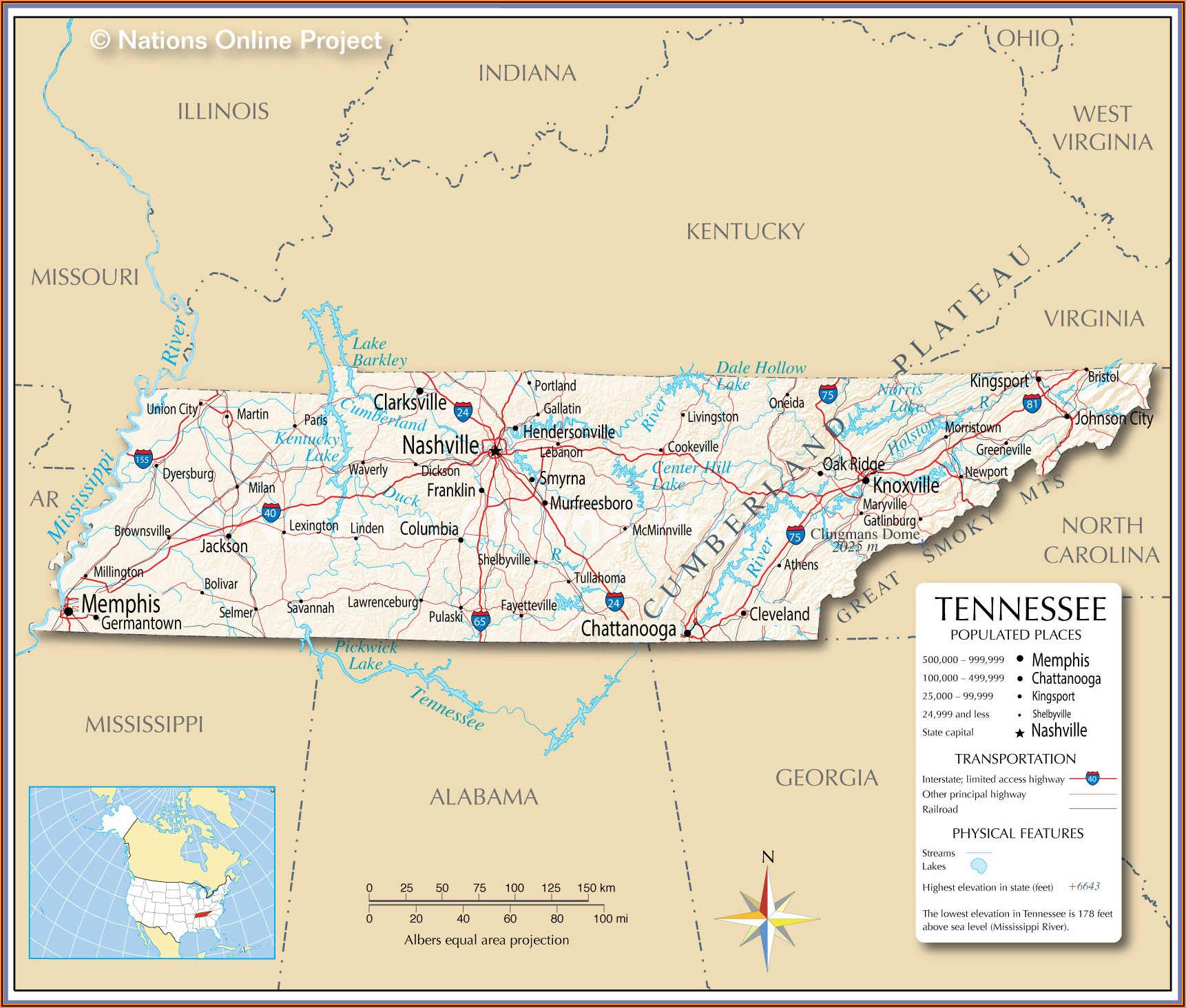 Map Of Memphis Tennessee And Mississippi