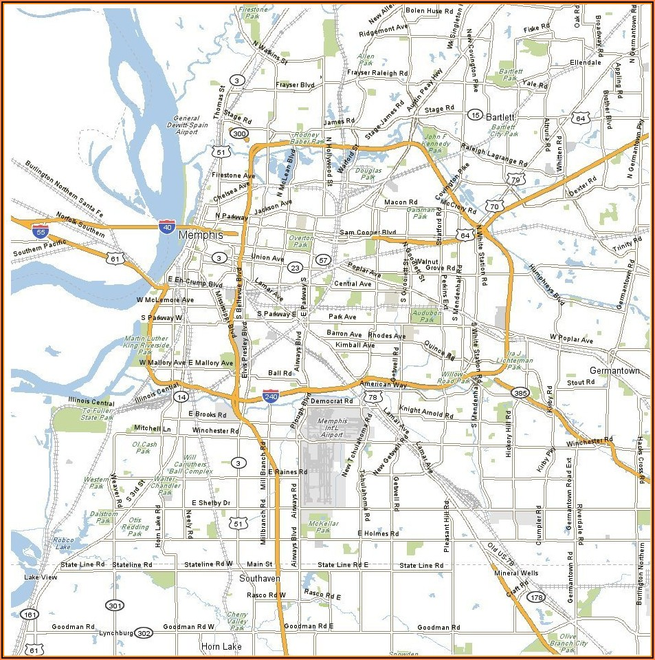 Map Of Memphis Tennessee Hotels