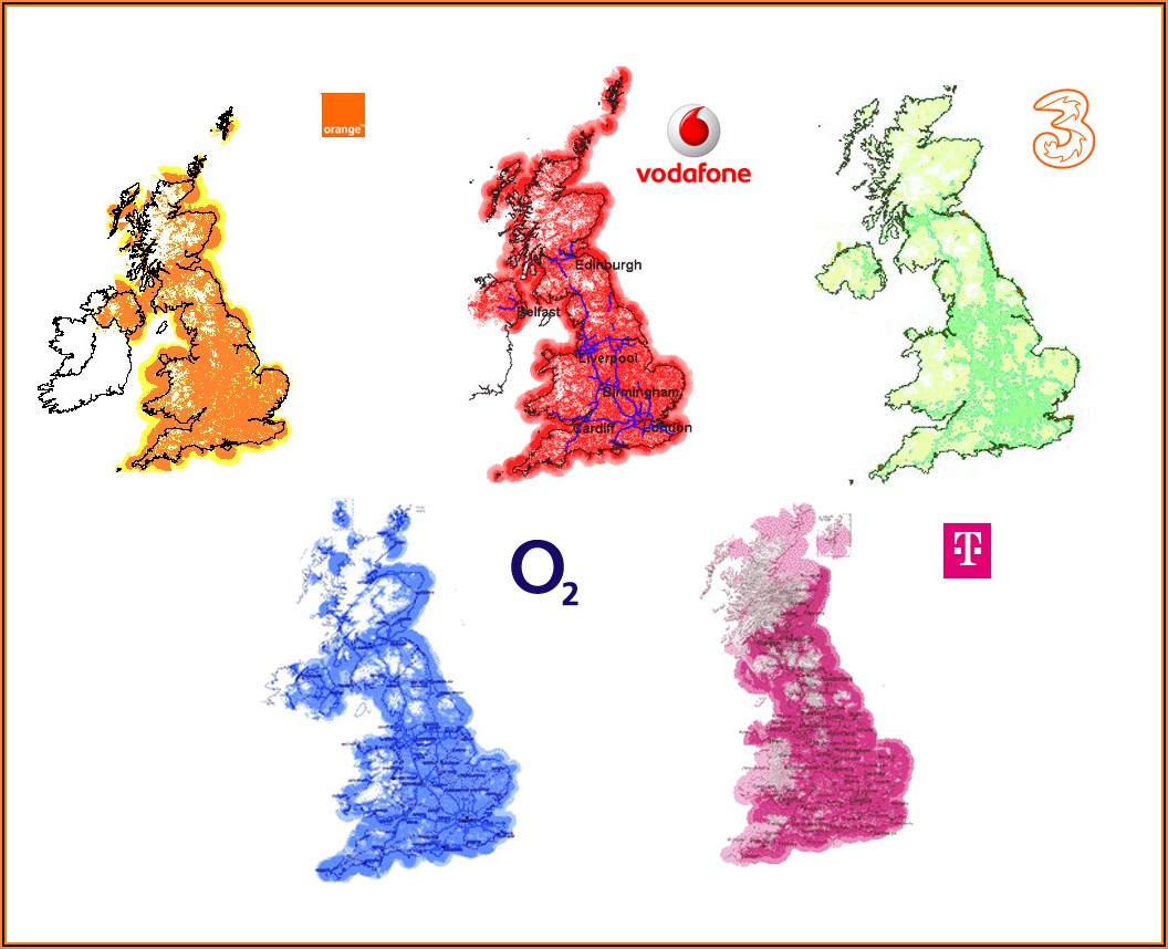 Map Of Mobile Phone Coverage Uk