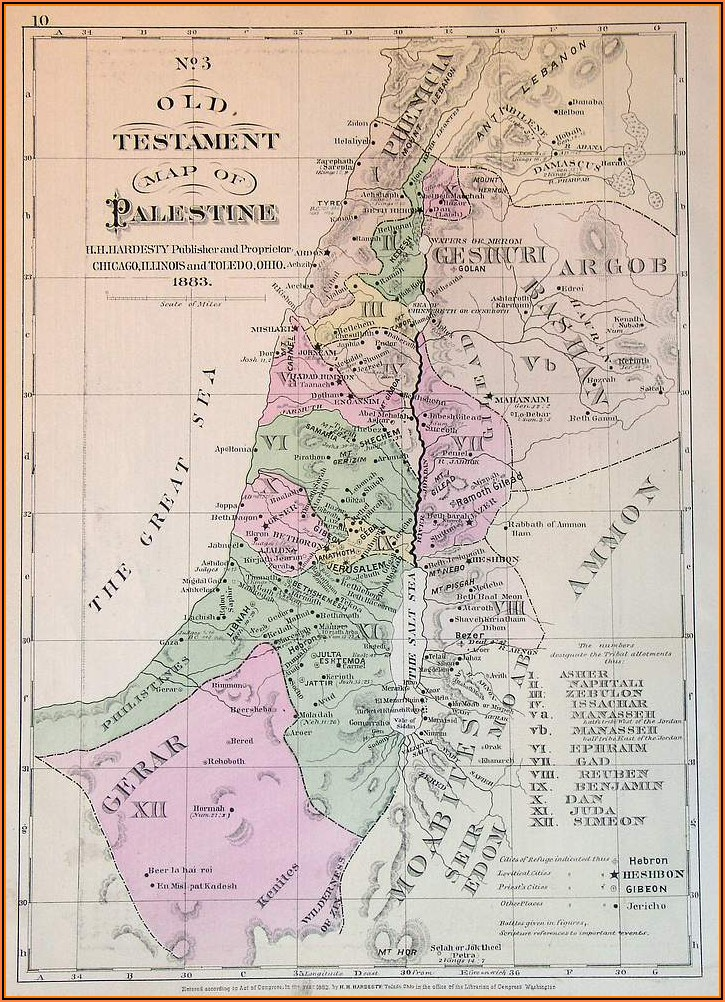 Map Of Palestine During Old Testament