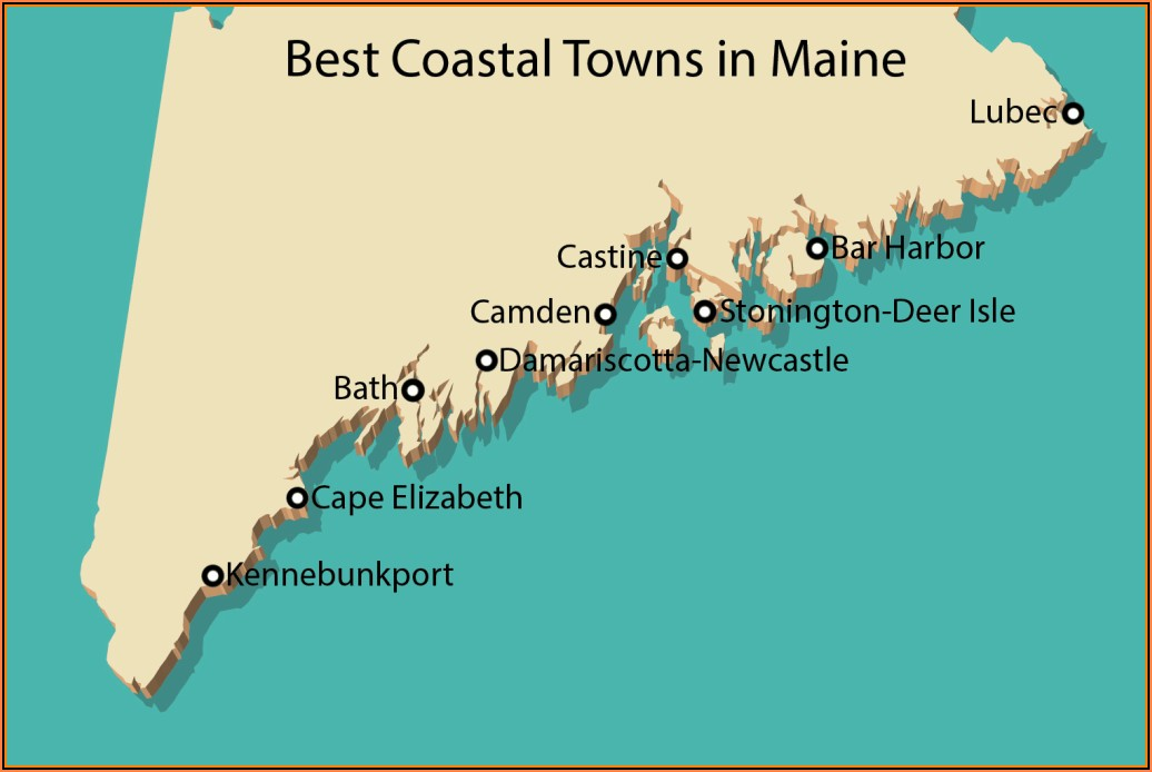 Map Of Portland Maine Coastline
