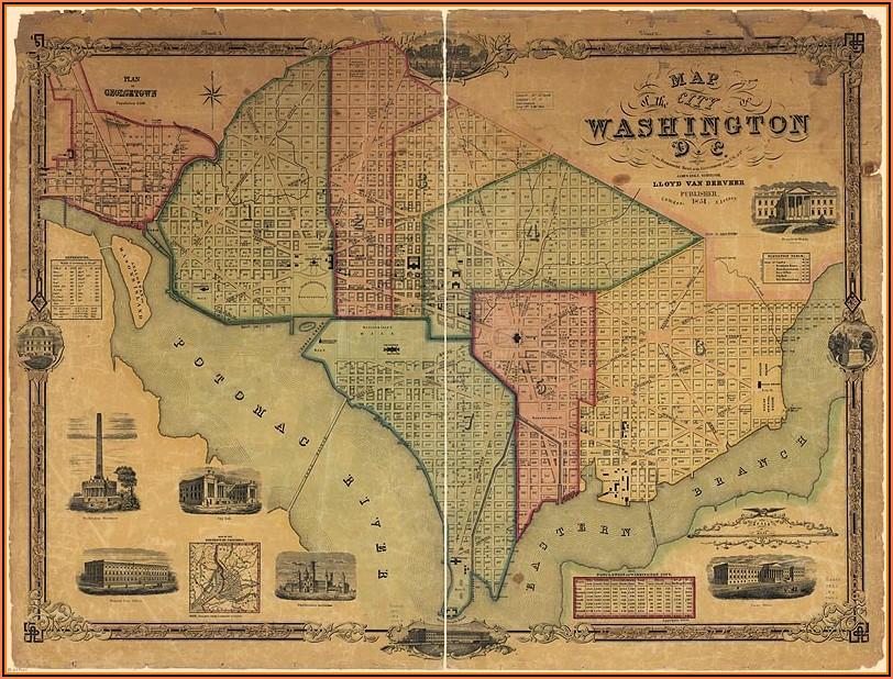 Map Of Washington Dc Historical Sites