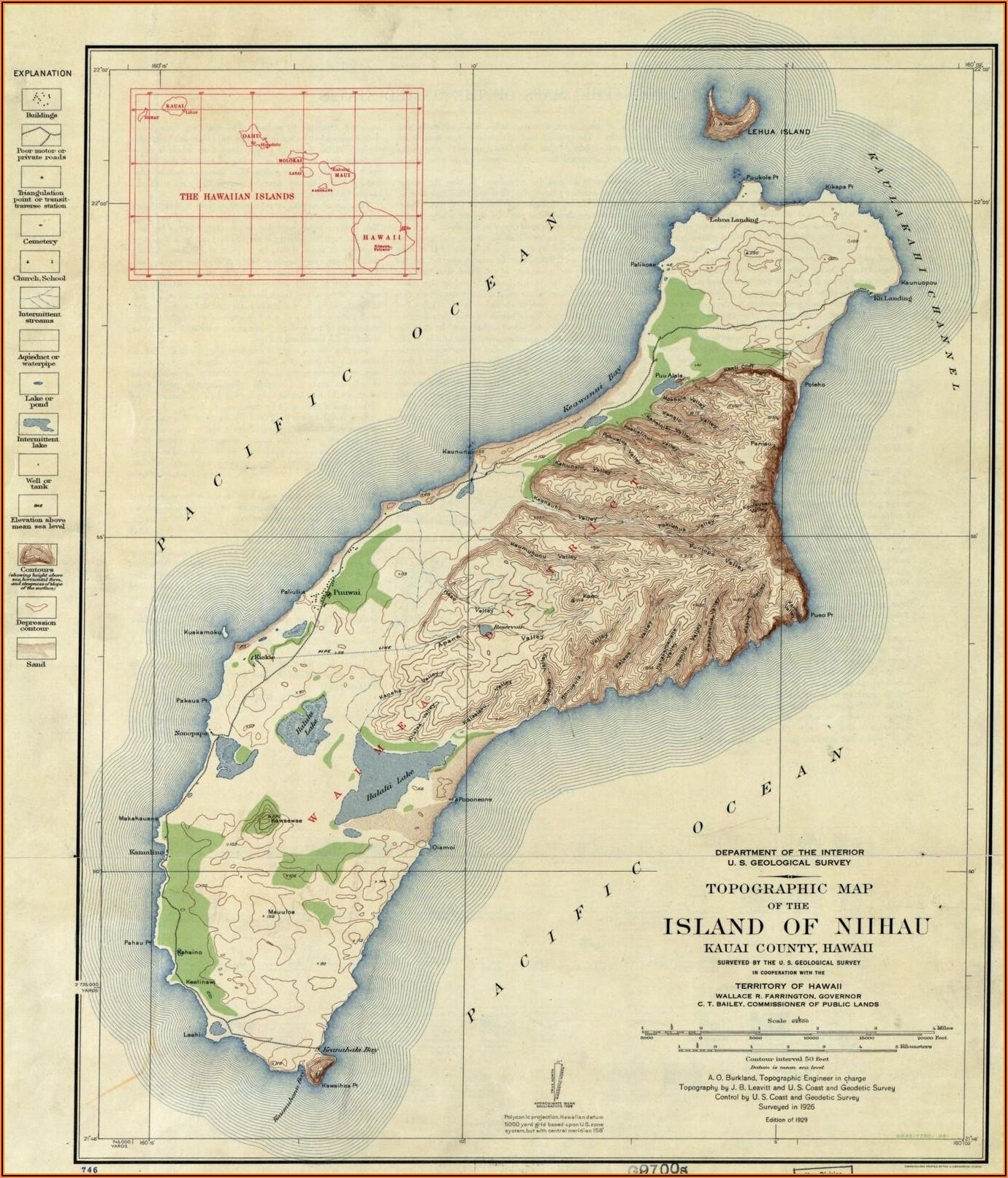 Maps Of Kauai Island