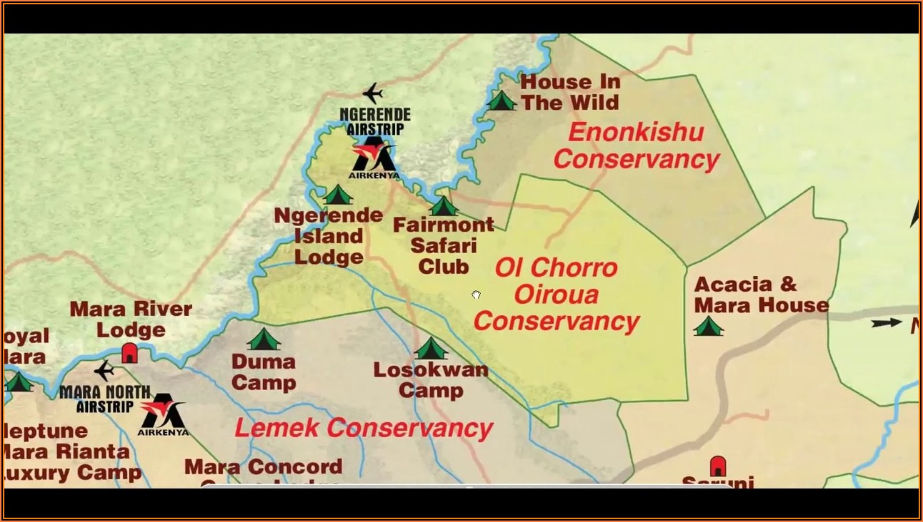 Masai Mara Lodges Map