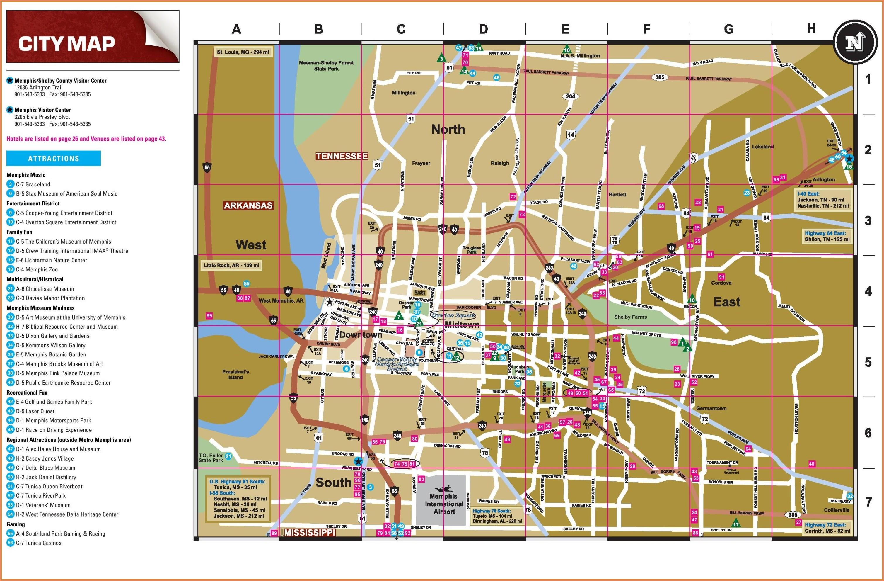 Memphis Tn Map