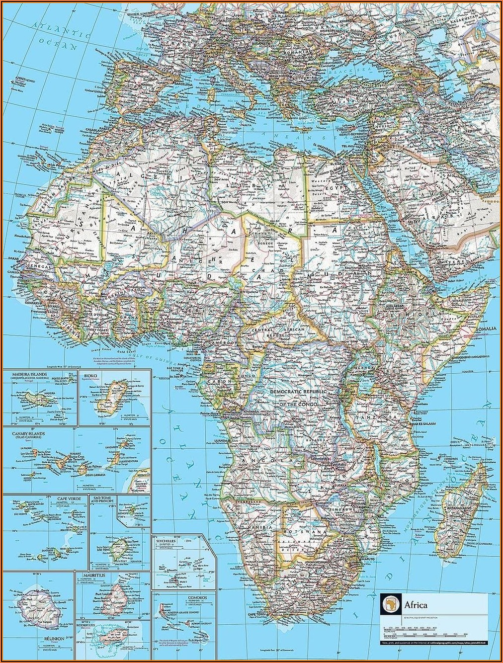 National Geographic Map Of Africa