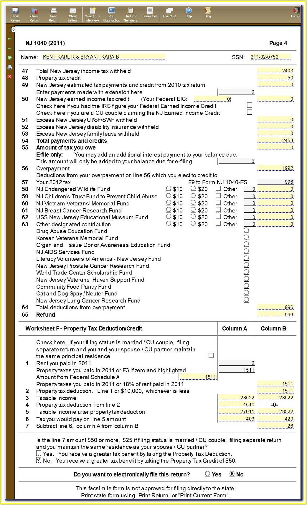 Nj 1040 Tax Form Instructions