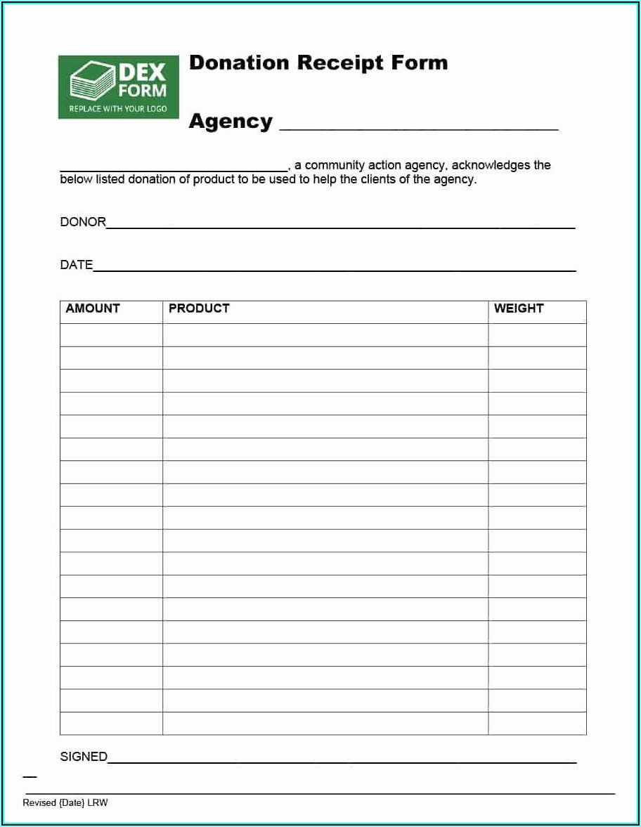 Non Profit Donation Form Template