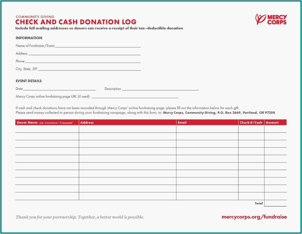 Non Profit Donation Receipt Form