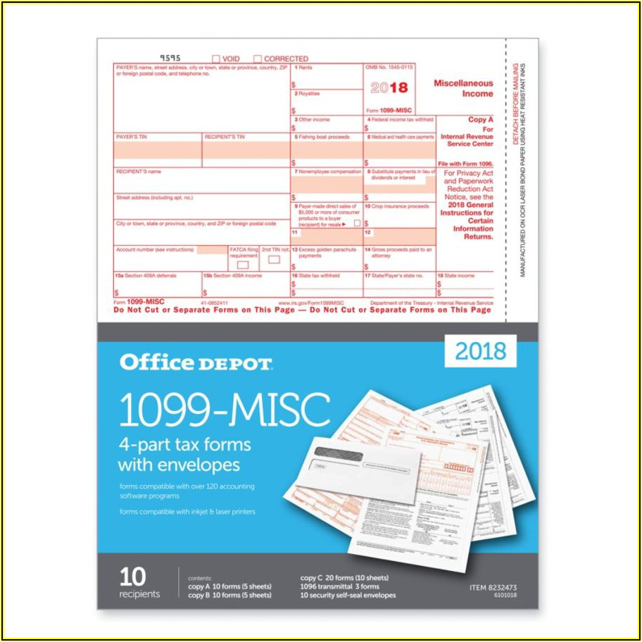 Office Depot 1099 Forms Compatible Quickbooks