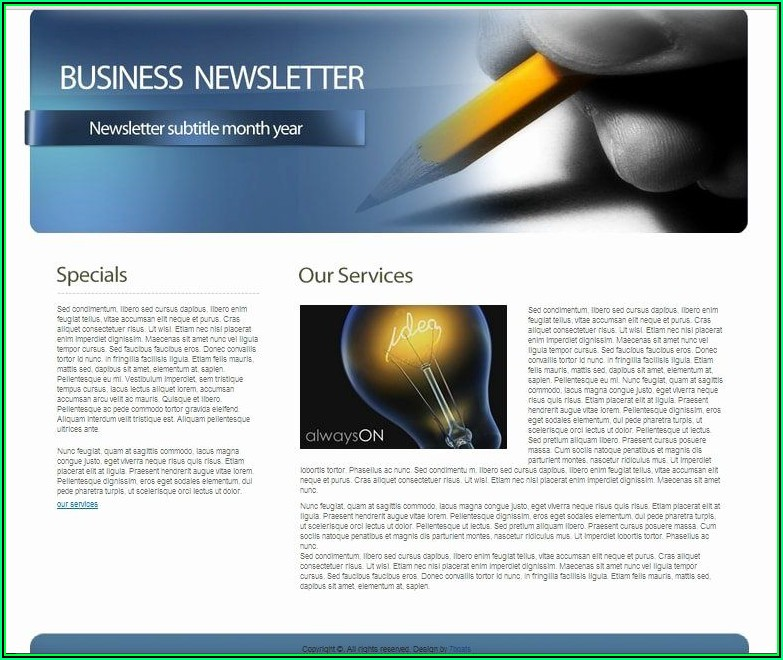 Office Newsletter Templates