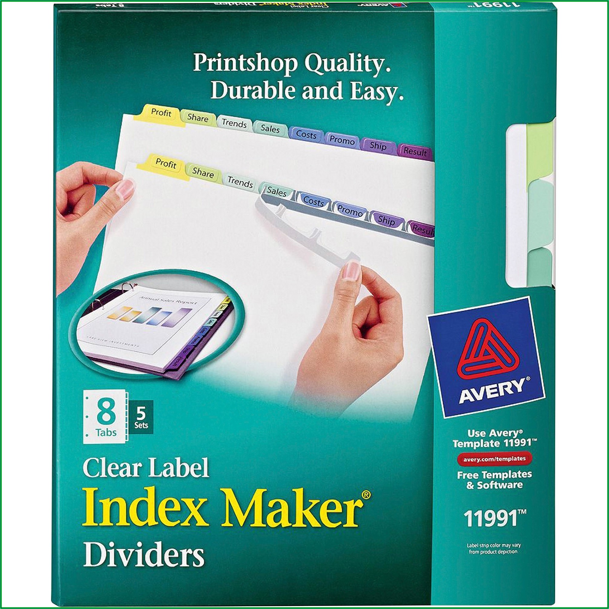 Officemax 5 Tab Divider Template