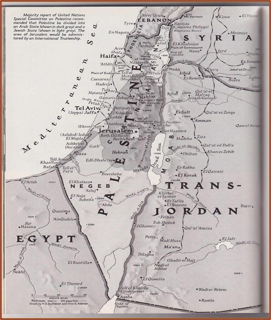 Old And New Map Of Palestine