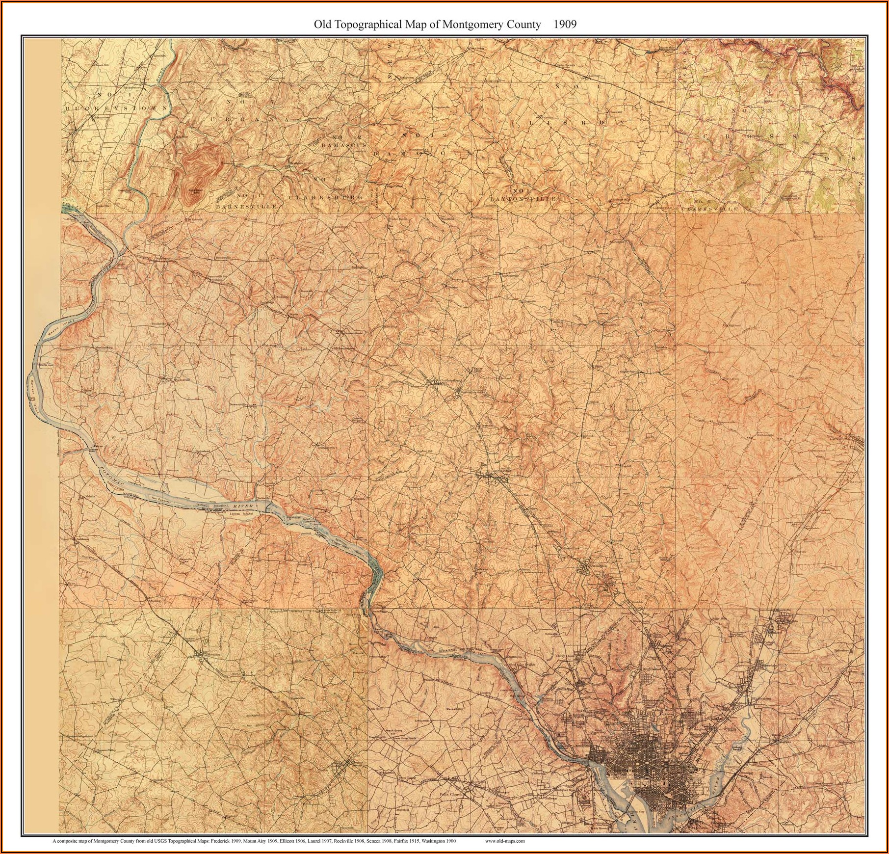 Old Topographic Maps Of Maryland