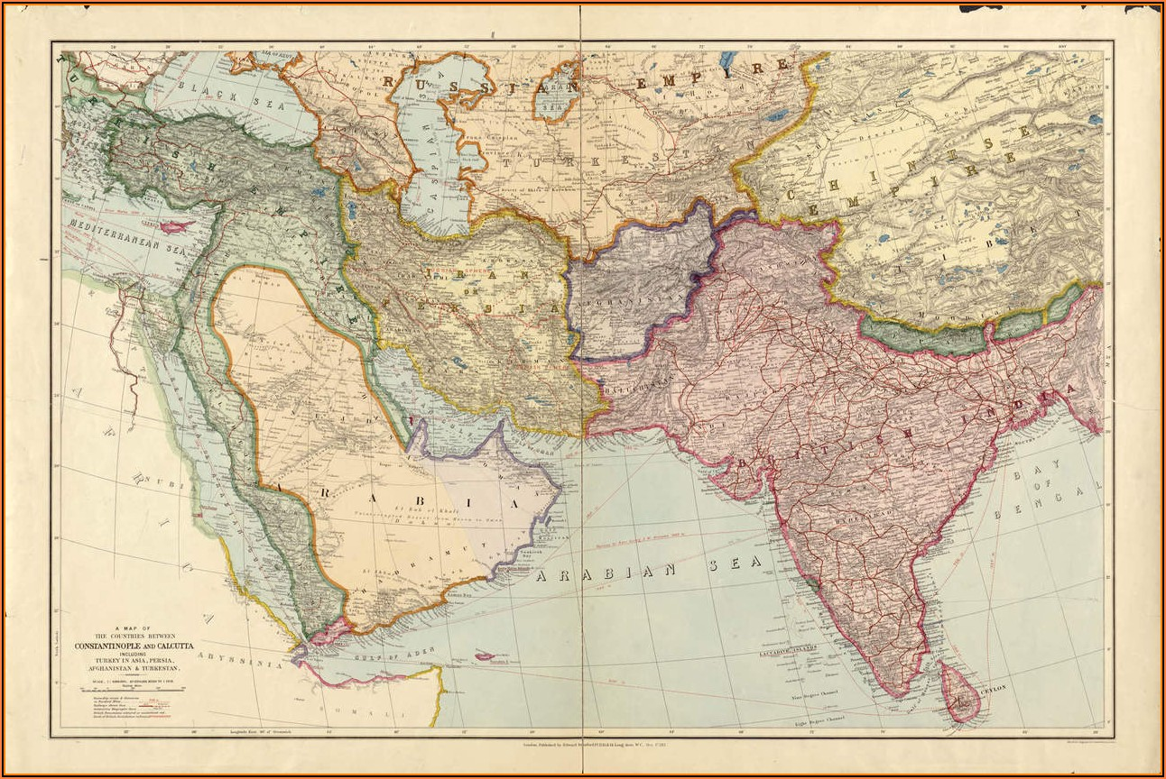 Oldest Maps Of The Middle East
