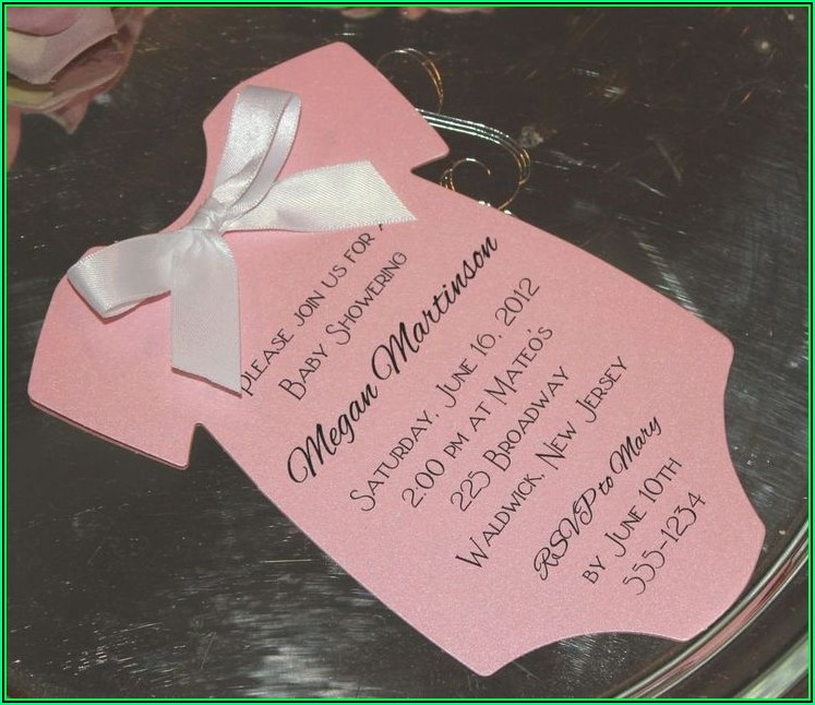 Onesie Invitation Template Printable