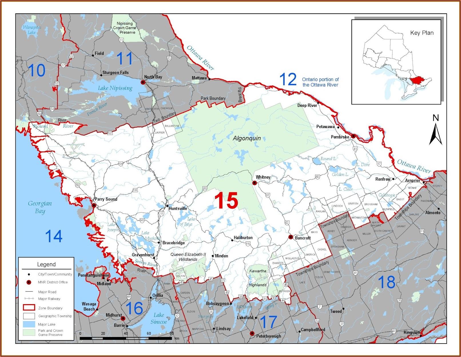 Ontario Fishing Maps Species