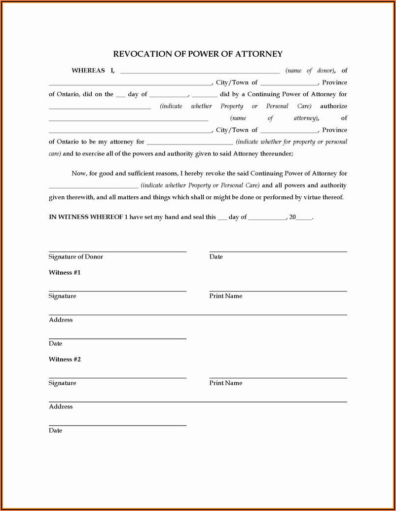 Oregon Power Of Attorney Form Dmv