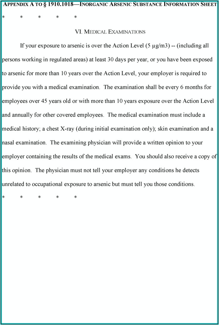 Osha Respirator Medical Evaluation Form