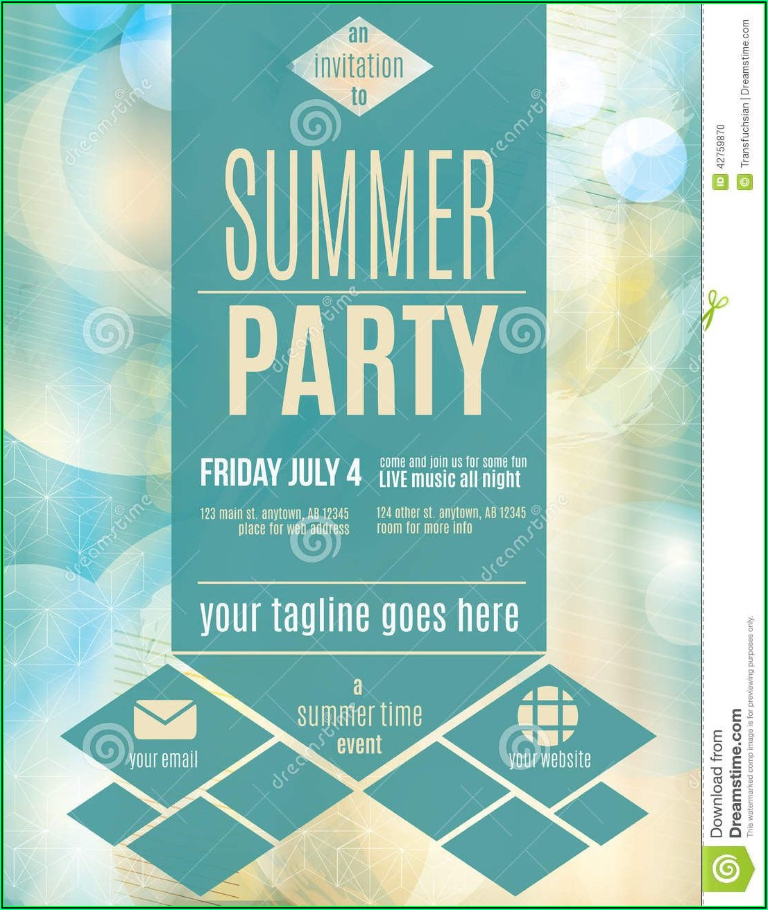 Party Invitation Flyer Template Free