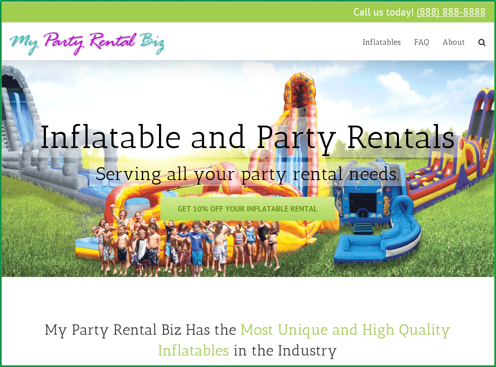 Party Rental Website Templates