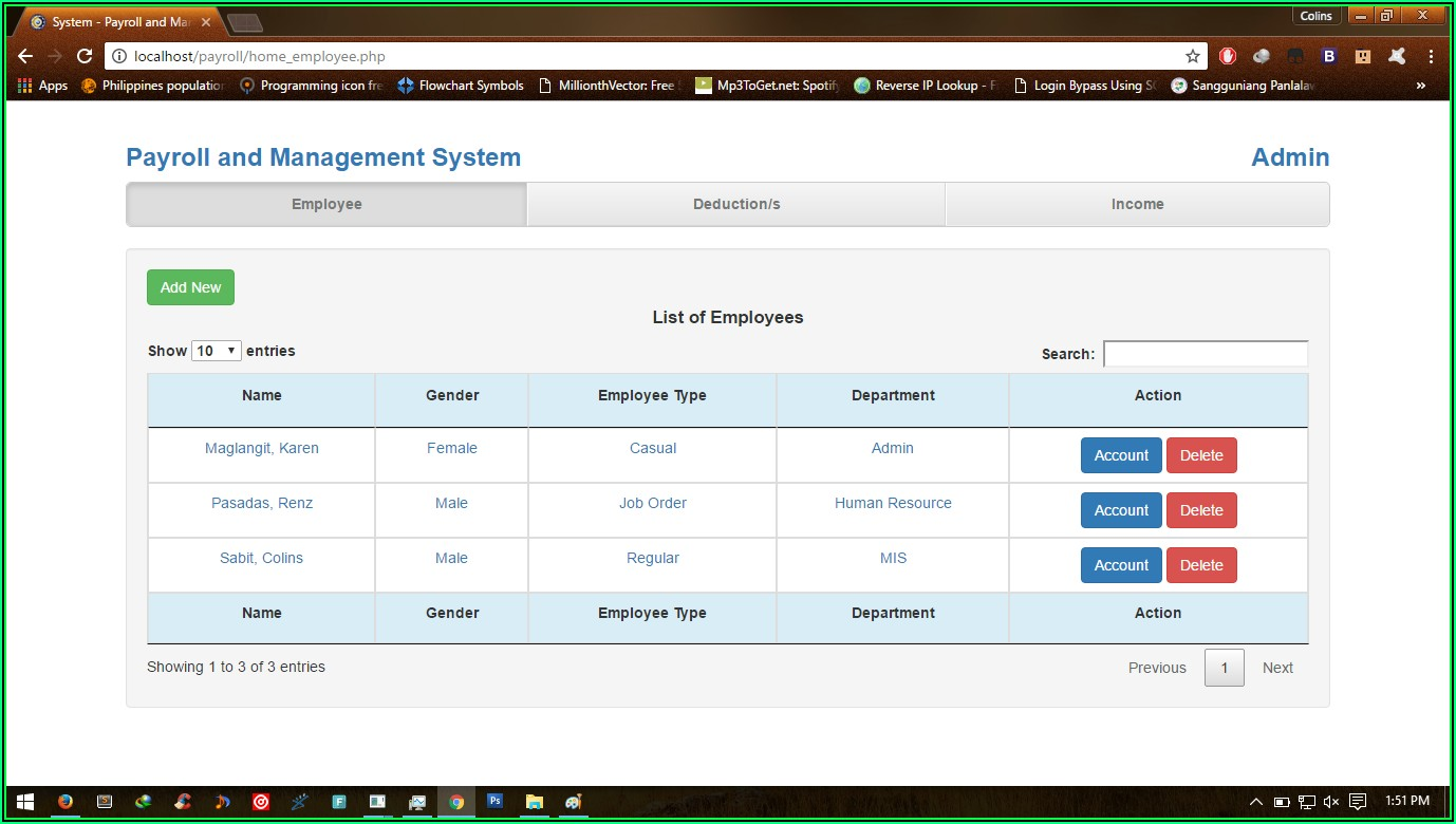 Payroll Management System Website Template Free Download