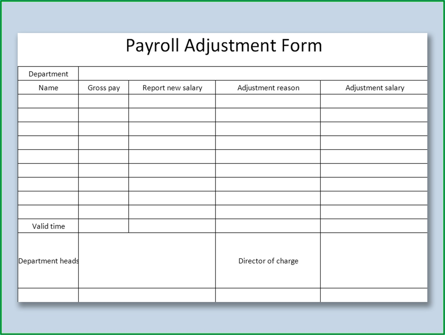 Payroll Sample Pdf