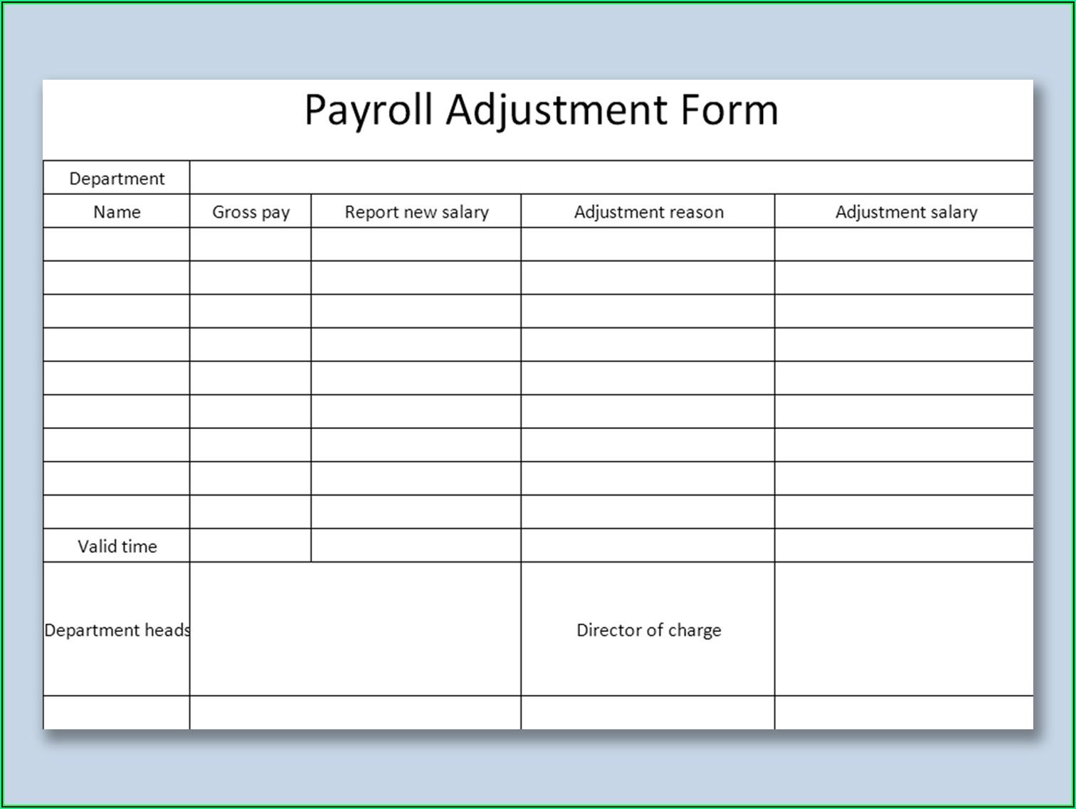 Payroll Sample Pdf