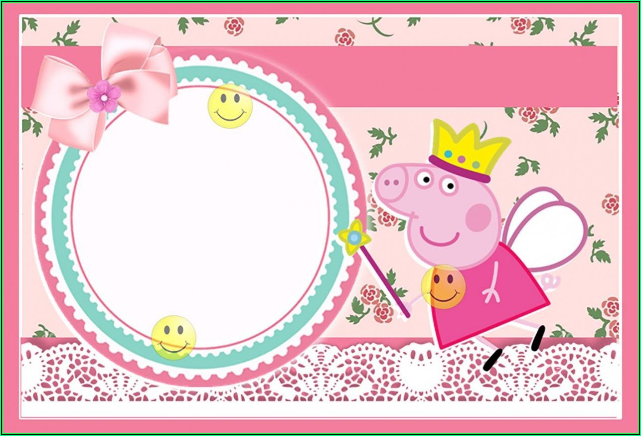 Peppa Pig Invitation Card Template