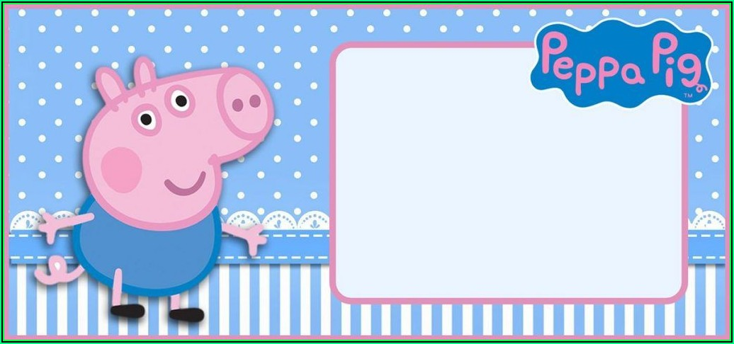 Peppa Pig Invitation Templates Free