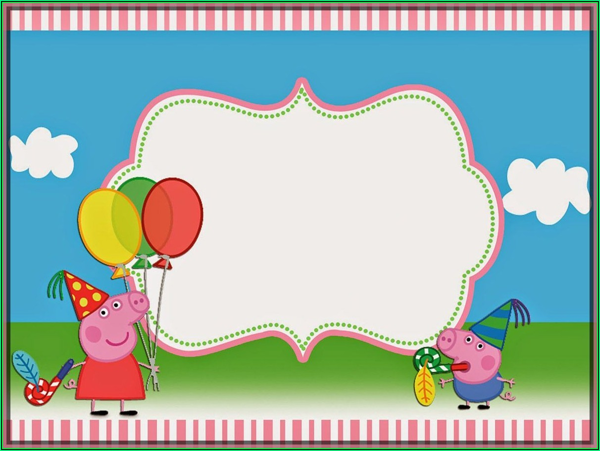 Peppa Pig Party Invitation Template