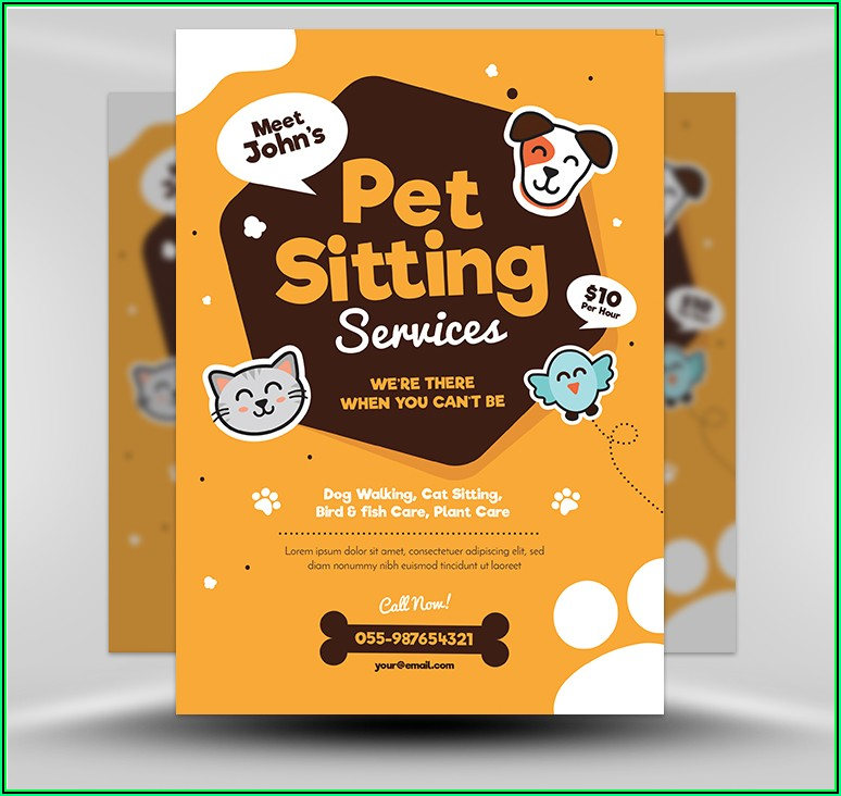 Pet Sitter Flyer Templates Free