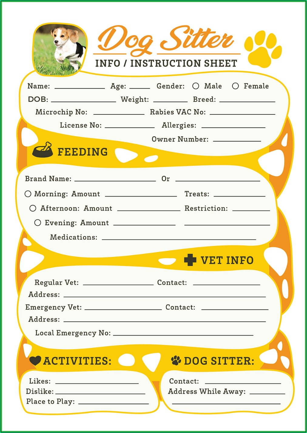 Pet Sitter Template Free