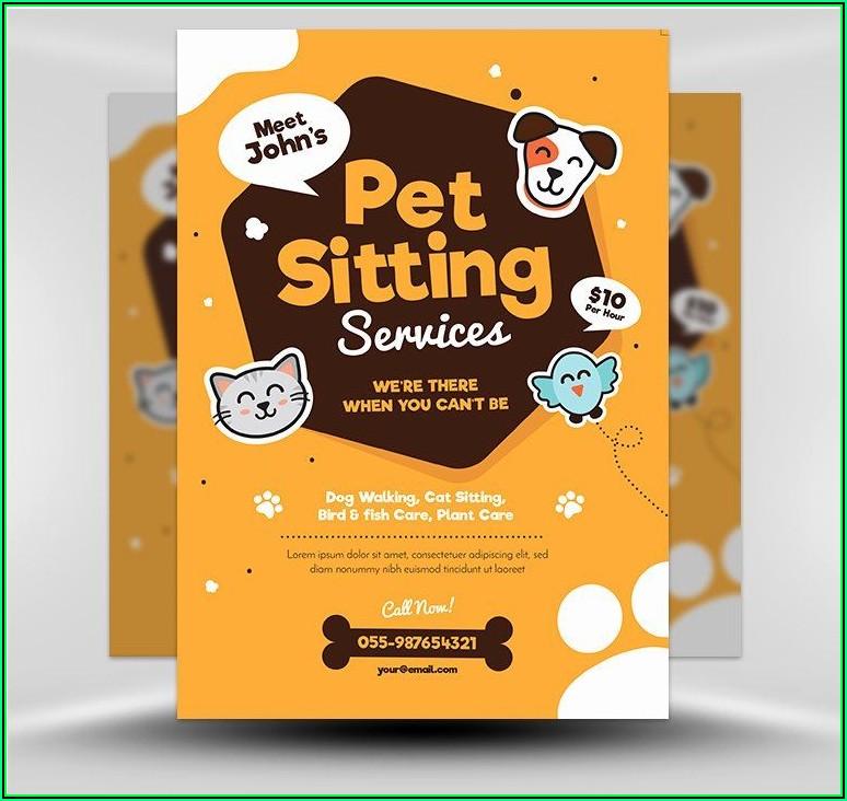 Pet Sitting Brochure Template Free