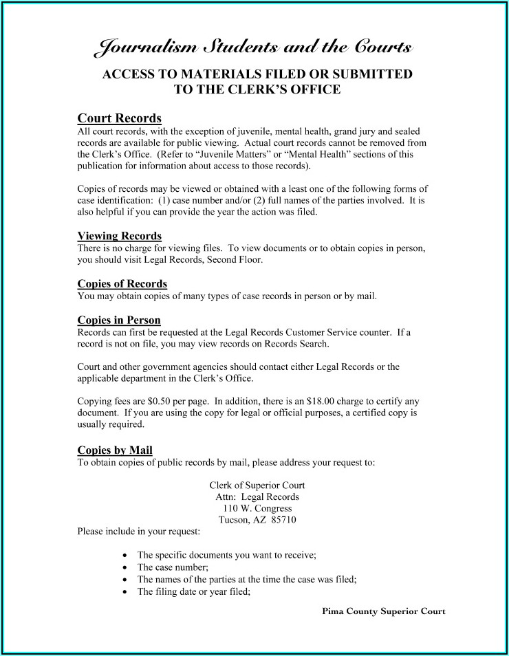 Pima County Probate Court Forms