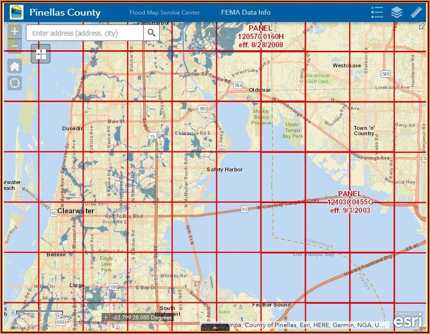 Pinellas County Flood Insurance Rate Map