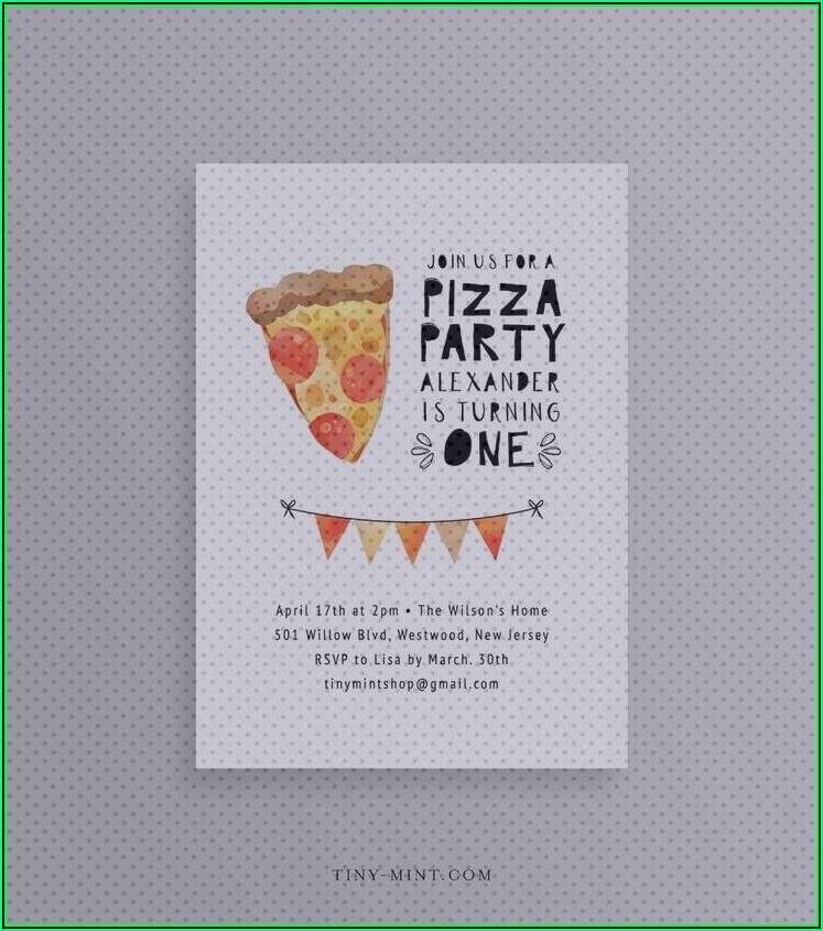 Pizza Making Birthday Party Invitation Template