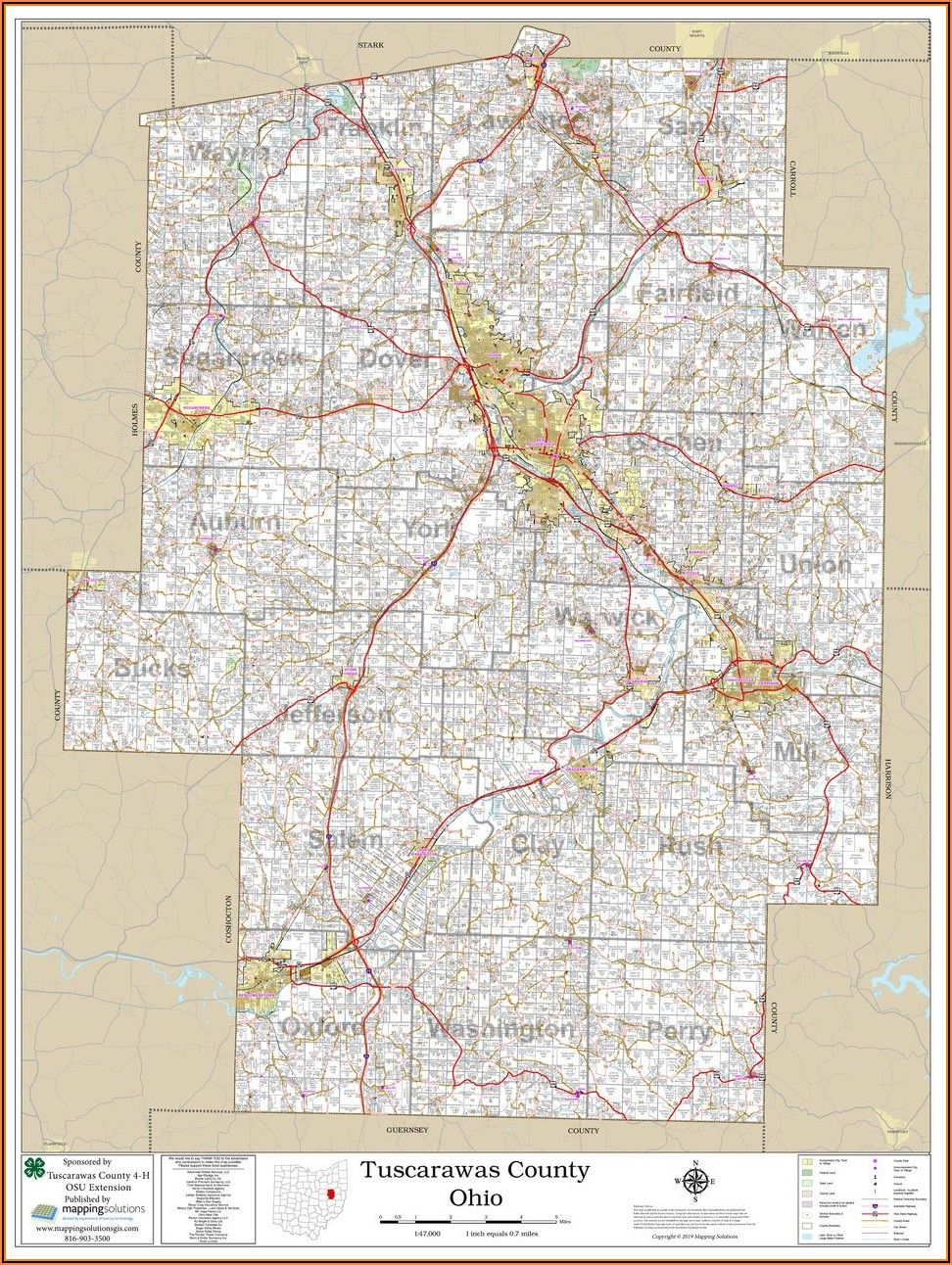 Plat Map Guernsey County Ohio