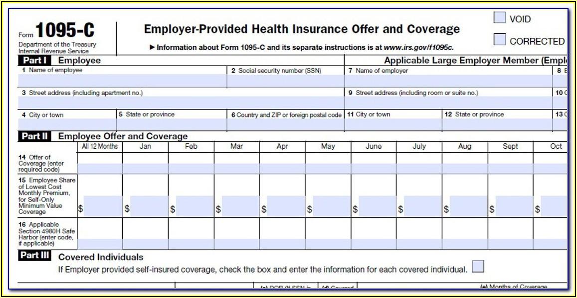 Print 1095 A Tax Form