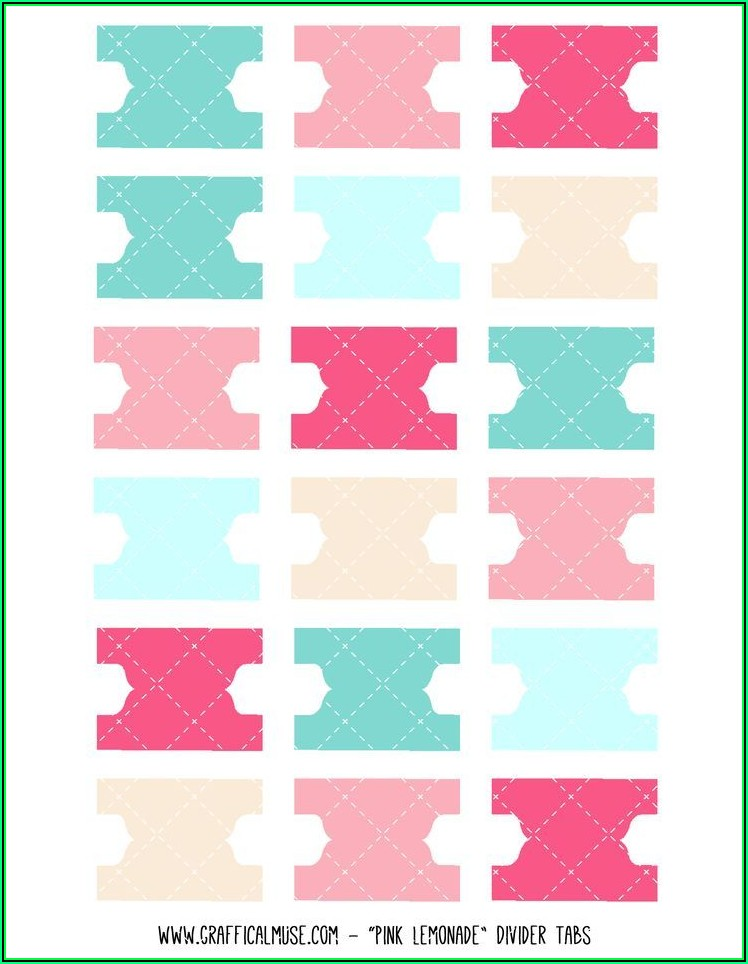 Printable Divider Tabs Template Free