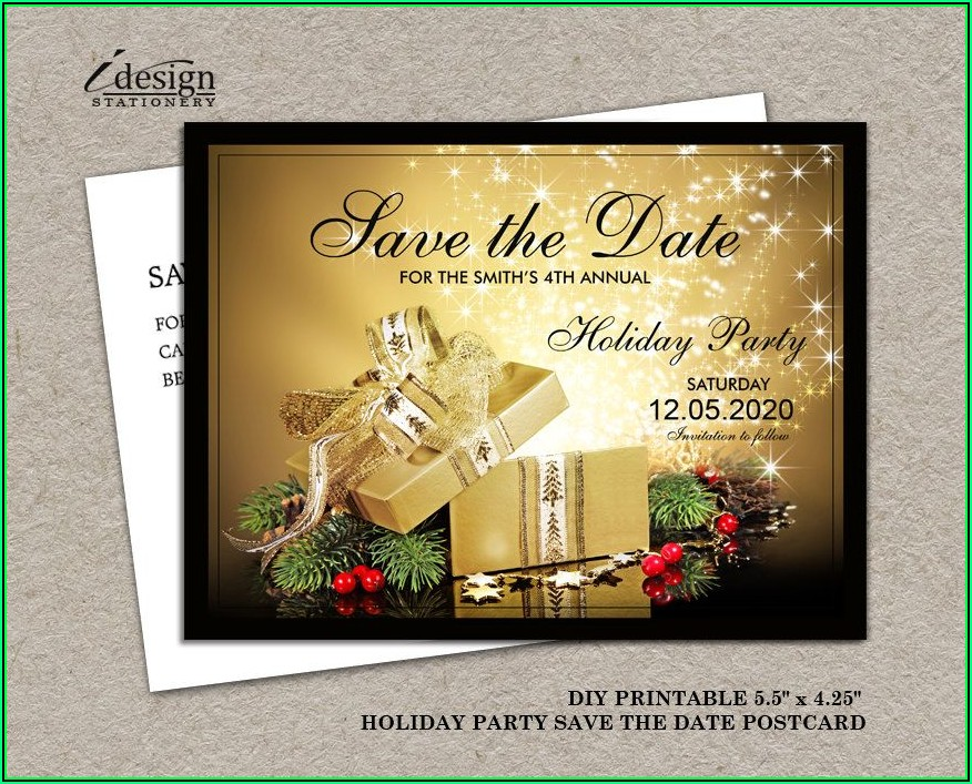 Printable Save The Date Holiday Party Templates Free