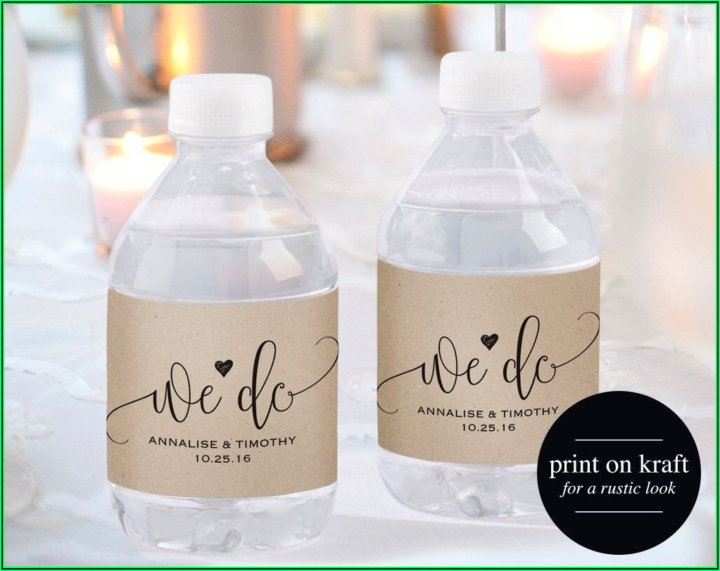 Printable Wedding Water Bottle Labels Free Templates