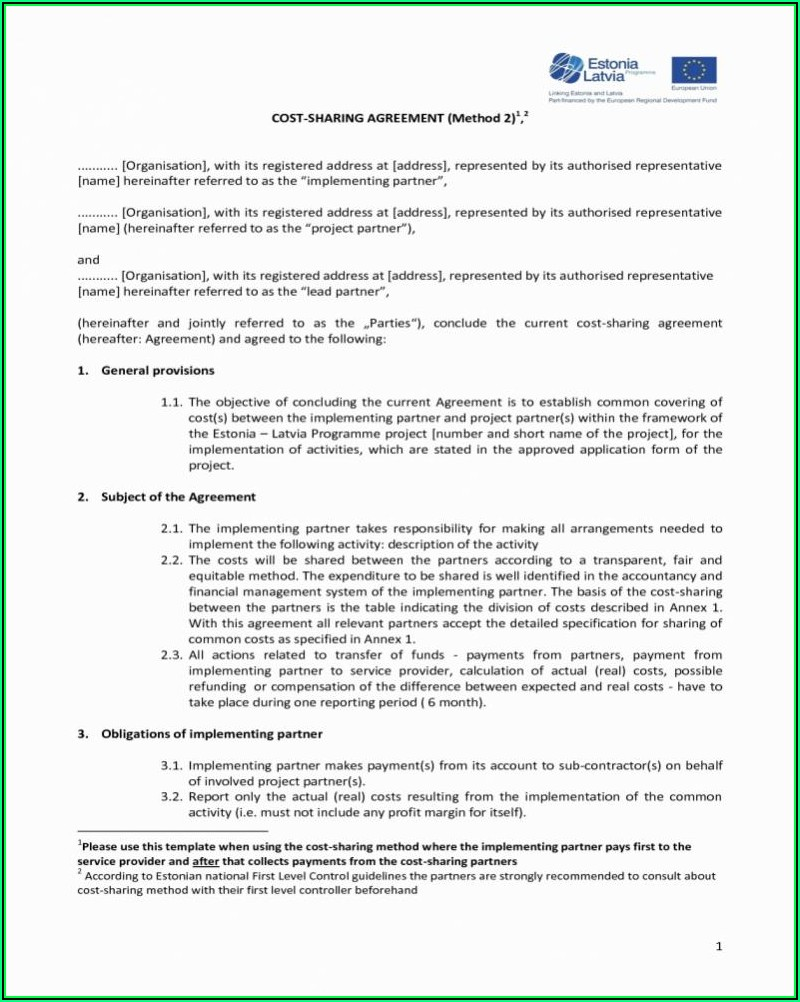 Profit Sharing Agreement Template India