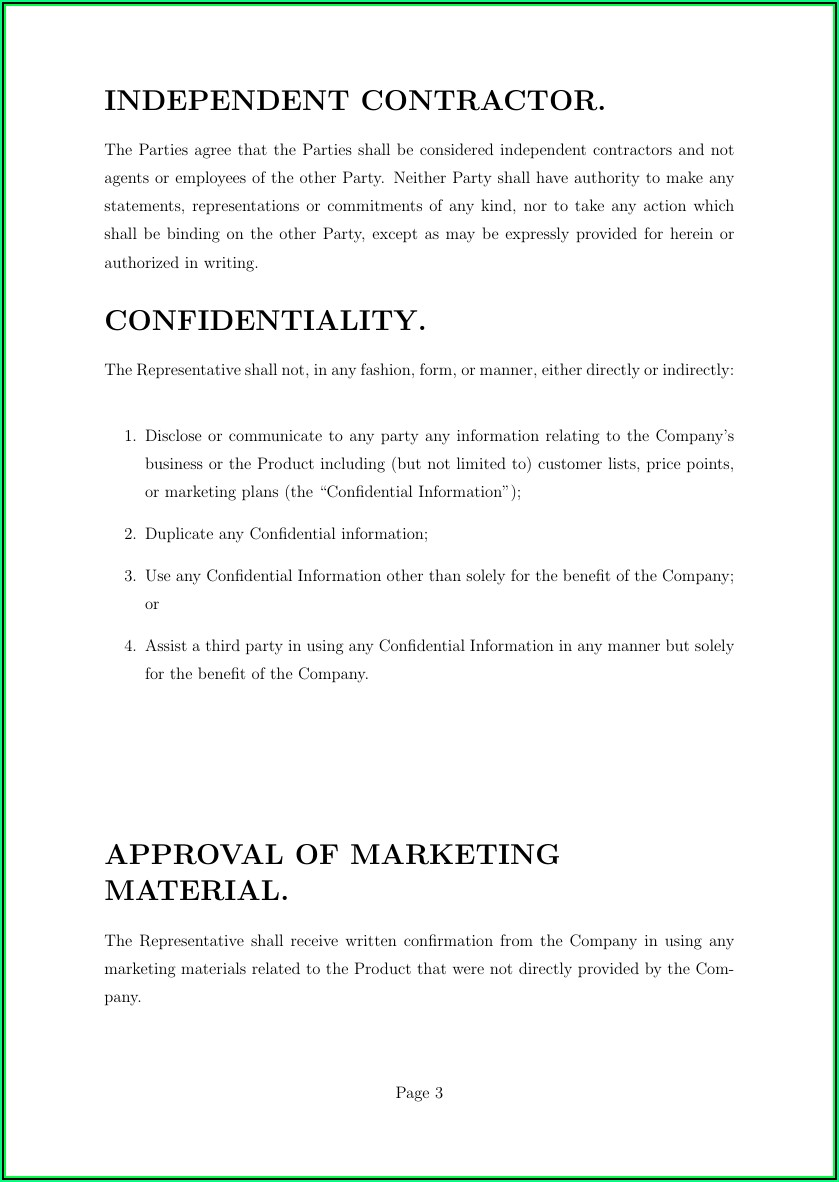Profit Sharing Agreement Template South Africa